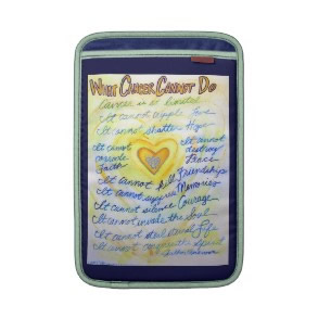 Blue and Gold Cancer Cannot Do iPad Sleeve Case rickshawsleeve