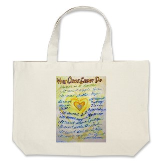 Blue and Gold What Cancer Cannot Do Tote Bag bag
