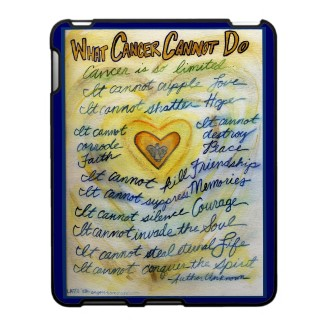 What Cancer Cannot Do Angel Art iPad Hard Case speckcase