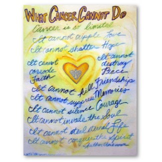 What Cancer Cannot Do Poster Art Print