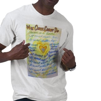 What Cancer Cannot Do (Blue & Gold Text) T-shirt Double Side Cancer Team Walk