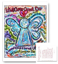 Colorful Cancer Angel Postcard