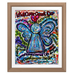 Colorful Angel Angel Poster Print Art Painting Framed Simple