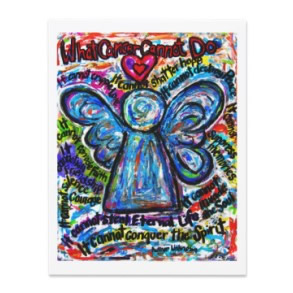 Colorful Cancer Angel Invitation or Invite Cards