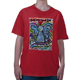 Colorful Cancer Angel Painting T-shirt