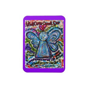 Colorful What Cancer Cannot Do Angel Magnet premiumfleximagnet
