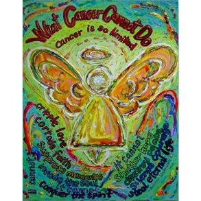 Rainbow Cancer Cannot Do Angel Painting Poster Art Print