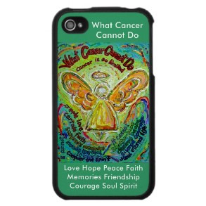 Rainbow What Cancer Cannot Do Angel Phone Case Green