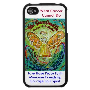 Rainbow What Cancer Cannot Do Angel Phone Case White