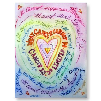 Rainbow Heart What Cancer Cannot Do Postcards postcard