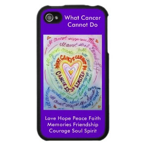 Rainbow Heart What Cancer Cannot Do iPhone Case