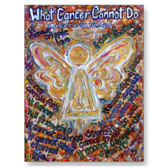 Southwest Cancer Cannot Do Angel Postcards or Card postcard