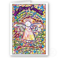 Spring Heart Cancer Angel Greeting Card