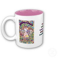 Spring Hearts Cancer Angel Mug