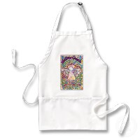 Spring Hearts Cancer Angel Apron