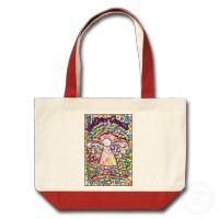 Spring Hearts Cancer Angel Bag