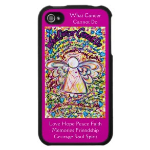 Spring Hearts Angel Cancer Cannot Do iPhone Case Hot Pink