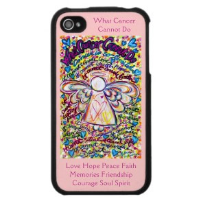 Spring Hearts Angel Cancer Cannot Do iPhone Case 4