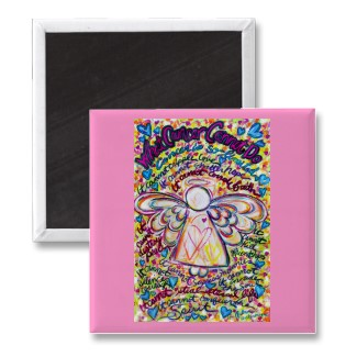 Spring Hearts Cancer Angel Magnet