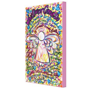 Spring Hearts Cancer Cannot Angel Canvas Painting