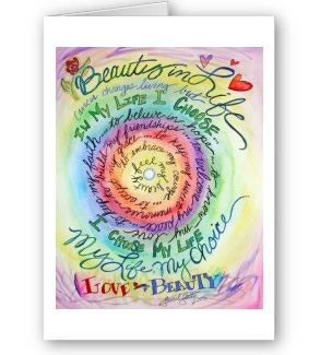 Beauty in Life Rounded Rainbow Greeting Card or Note Cards