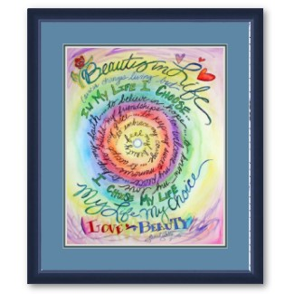 Beauty in Life Rounded Rainbow Framed Art Print
