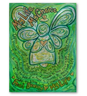My Life, My Choice Green Cancer Angel Poster Art Print