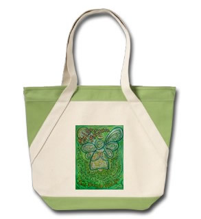 My Life, My Choice Green Cancer Angel Tote Bag