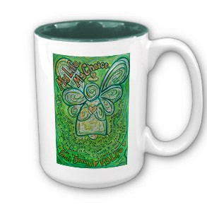 My Life, My Choice Green Cancer Angel Coffee Mug