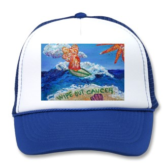 Wipe Out Cancer Angel Hat Baseball Cap