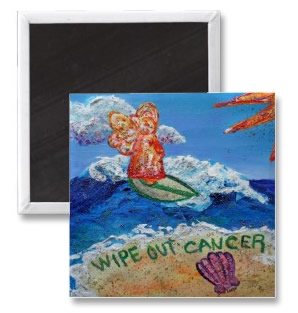 Wipe Out Cancer Angel Magnet