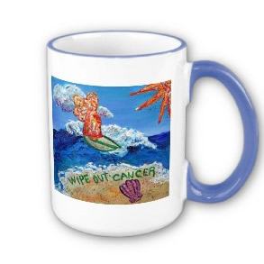 Wipe Out Cancer Angel Mug Cup