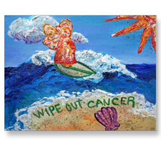 Wipe Out Cancer Angel Postcard