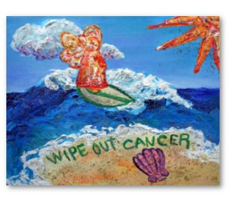 Wipe Out Cancer Angel Poster Art Print