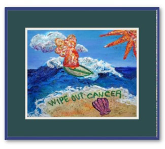 Wipe Out Cancer Angel Framed Poster Art Print