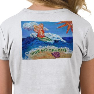Wipe Out Cancer Angel T-shirt Image Backside