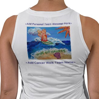Wipe Out Cancer Angel Team Fundraiser Group Shirt