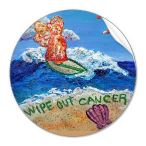 Wipe Out Cancer Angel Sticker
