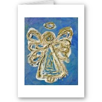 Blue Angel Greeting or Note Card