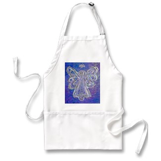 Purple Angel Wings Apron