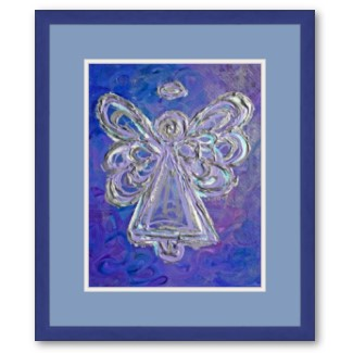 Purple Angel Framed Poster Print Art