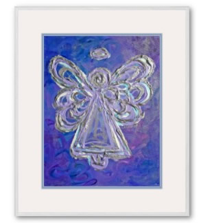 Purple Angel Framed Artwork Print