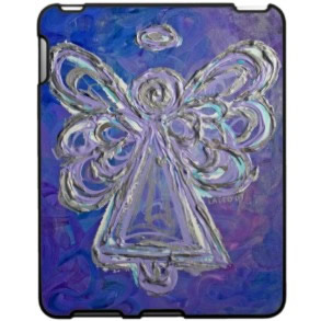 Purple Angel Hard iPad Case