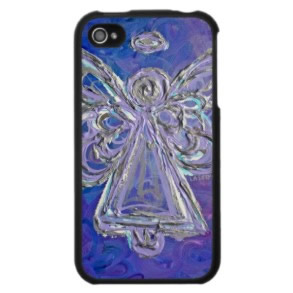 Purple Angel iPhone Cases