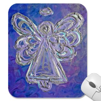 Purple Angel Mousepad
