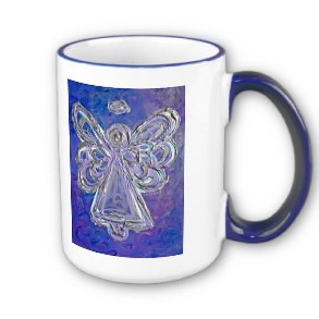 Purple Angel Mugs