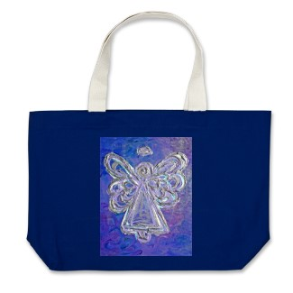 Purple Angel Tote Bag