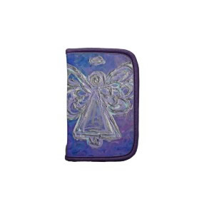 Silver Purple Color Angel Folio Planner Organizer rickshawfolio