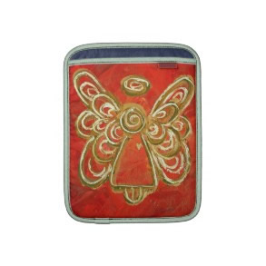 Red Angel Art Painting iPad Computer Sleeves rickshawsleeve