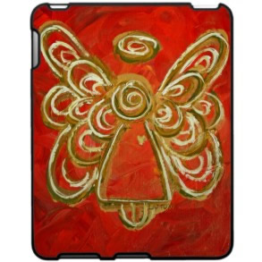 Red Angel Wings iPad Hard Case Plastic
